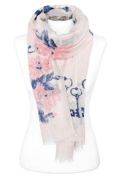 leichter Damen-Schal Blumen Blüten Schlüssel Tuch Halstuch Schal Autiga®