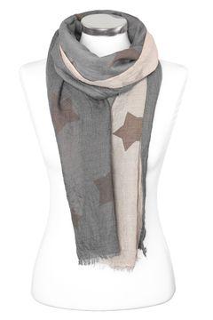 leichter Damen-Schal mit Sternen Stars Vintage Schal Tuch Halstuch Schal Autiga®