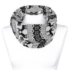 Damen Schlauchschal Norweger Muster Rentier Infinity Loop Schal Rundschal Tube Scarf Autiga®