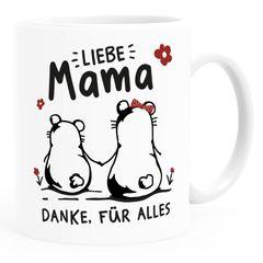 Kaffee-Tasse Liebe Mama Danke für alles Geschenk Muttertag Geburtstag Bär Strichzeichnung SpecialMe®