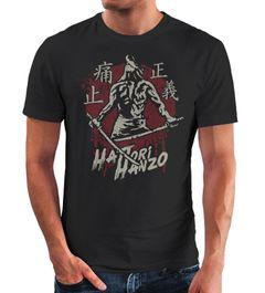 Neverless® Herren T-Shirt Samurai japanische Schriftzeichen Schriftzug Hattori Hanzo Fashion Streetstyle