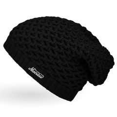 Damen Strickmütze, Strick-Beanie Winter-Mütze, einfarbig Neverless®