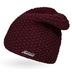 Damen Strickmütze, Strick-Beanie Winter-Mütze, einfarbig Neverless®
