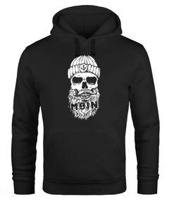 Hoodie Herren Moin Totenkopf Anker Skull Kapuzen-Pullover Männer Neverless®