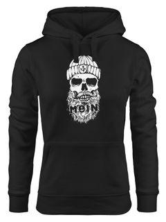 Hoodie Damen Moin Totenkopf Anker Skull Kapuzen-Pullover Neverless®