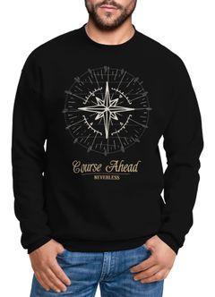 Herren Sweatshirt Pullover Kompass Windrose Navigator Segeln Rundhalspullover Neverless®