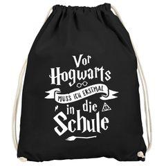 Kinder Turnbeutel Vor Hogwarts muss isch erstmal in die Schule Geschenk zur Einschulung Jungen Mädchen Moonworks®