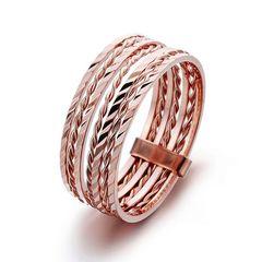 moderner Damen Ring mehrteilig in zartem Rosegold 18Karat plattiert Autiga®