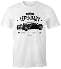 Herren T-Shirt, Hot Rod Retro Auto Car Oldschool Rockabilly, Fun-Shirt Moonworks