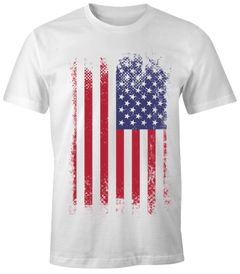 Herren T-Shirt - Amerika Flagge USA  - Comfort Fit MoonWorks®