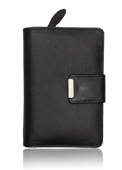 Leder Geldbörse Damen Geldbeutel Portemonnaie Echt Leder Brieftasche Druckknopf Reißverschluss