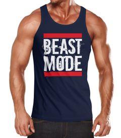 Herren Tanktop Tank Top - Beast Mode Bodybuilder Fitness Gym - MoonWorks®