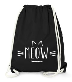 Turnbeutel Katze Meow Miau Cat Tier - Moonworks®