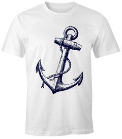 Herren T-Shirt - Anker schräg V3 - Comfort Fit MoonWorks®