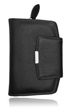 Leder Geldbörse Damen Geldbeutel Portemonnaie Echt Leder Brieftasche Druckknopf Reißverschluss Autiga®