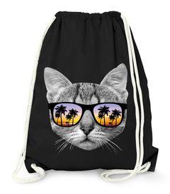 Turnbeutel Gym Bag - Katze mit Sonnenbrille - Moonworks®