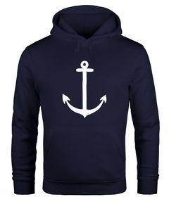 Hoodie Herren Anker Anchor Kapuzenpullover Sweatshirt mit Kapuze Moonworks®