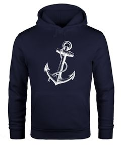 Hoodie Herren Anker Anchor Sweatshirt mit Kapuze Kapuzenpullover Moonworks®