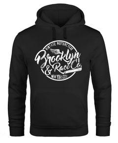 Hoodie Herren Sweatshirt Brooklyn Race Motorcycle Vintage Kapuzenpullover Neverless®
