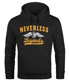 Hoodie Herren Biker Legends Sweatshirt Kapuze Kapuzenpullover Sweater Männer Neverless®