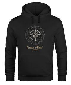 Hoodie Herren Kompass Windrose Navigator Segeln Neverless®