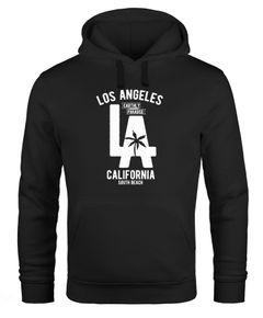 Hoodie Herren Los Angeles California LA Palme Neverless®