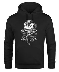 Hoodie Herren Totenkopf Schlange Skull Snake Neverless®