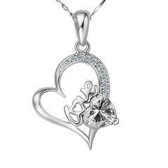 Damen Halskette Herz Heart Anhänger 925 Sterling Silber Geschenk Geschenkbox Autiga®