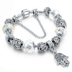 Bettelarmband Beads-Armband Fatimas Hand Hamsa Schmuck-Armband versilbert Geschenk Autiga®