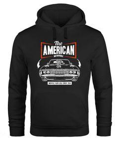 Hoodie Herren American Muscle Car Auto Tuning Retro Kapuzenpullover Neverless®
