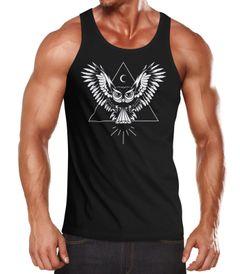 Herren Tanktop Eule Muskelshirt Tank Top Muscle Shirt Neverless®