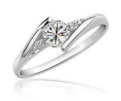 Damenring Solitärring 925 Sterling Silber Verlobungsring Zirkonia Kristall Antragsring Edel Luxus