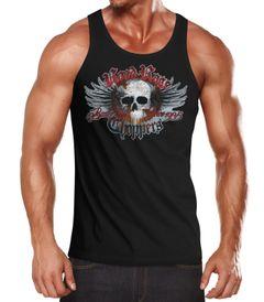 Herren Tanktop Road Rage Choppers Motorrad Totenkopf Muscle Shirt Neverless®