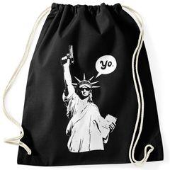 Turnbeutel Liberty Statue Amerika Hipster Beutel Tasche Sportbeutel Gymsac Gymbag Moonworks®