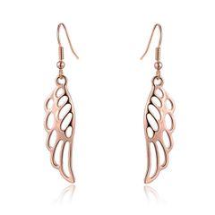 Damen Ohrringe mit Flügel Anhänger Ohrhänger Wings Engelsflügel vergoldet Autiga®