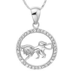 Sternzeichenkette Löwe Damen Halskette Sternzeichen Anhänger Zirkonias vergoldet Autiga®