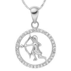 Sternzeichenkette Schütze Damen Halskette Sternzeichen Anhänger Zirkonias vergoldet Autiga®