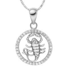 Sternzeichenkette Skorpion Damen Halskette Sternzeichen Anhänger Zirkonias vergoldet Autiga®