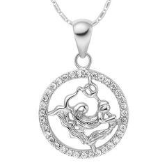 Sternzeichenkette Wassermann Damen Halskette Sternzeichen Anhänger Zirkonias vergoldet Autiga®