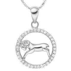 Sternzeichenkette Widder Damen Halskette Sternzeichen Anhänger Zirkonias vergoldet Autiga®