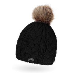 coole Herren Strickmütze mit Bommel,  Winter-Mütze Bommel aus Kunstfell Neverless®