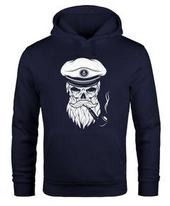 Hoodie Herren Sweatshirt Totenkopf Kapitän Captain Skull Bard Seemann Neverless®