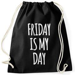 Cooler Turnbeutel mit Spruch Friday is my Day Moonworks®