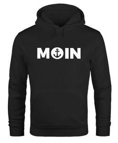 Hoodie Herren Moin Herz mit Anker Kapuzen-Pullover Moonworks®