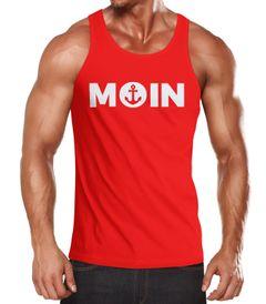 Cooles Herren Tanktop Moin mit Anker Moonworks®
