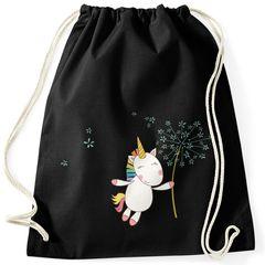 Turnbeutel Einhorn mit Pusteblume Unicorn with Dandelion Gymsac Gymbag Moonworks®