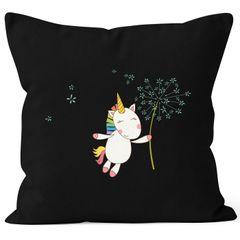 Kissenbezug Einhorn mit Pusteblume Kissen-Hülle Deko-Kissen 40x40  Baumwolle MoonWorks®