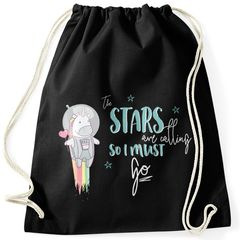 Turnbeutel Astronaut Einhorn Unicorn the stars are calling and i must go Spruch Gymbag Moonworks®