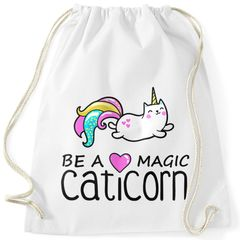 Turnbeutel Be a magic caticorn Einhorn Unicorn Gymbag Moonworks®