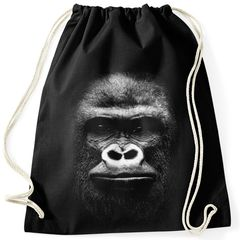 Turnbeutel 3D Gorilla Gorillakopf Gymsac Gymbag Moonworks®